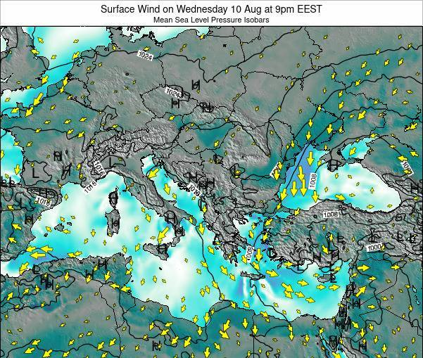 Bulgaria Surface Wind on Saturday 25 May at 9am EEST
