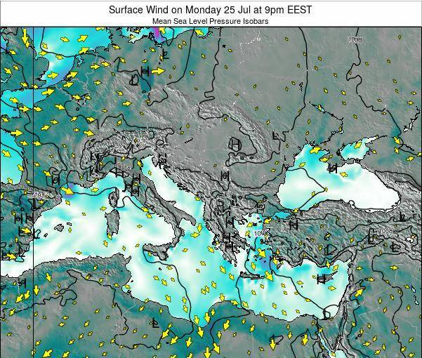 Bulgaria Surface Wind on Wednesday 01 Mar at 2am EET