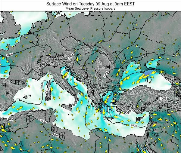 Bulgaria Surface Wind on Thursday 05 Mar at 2pm EET