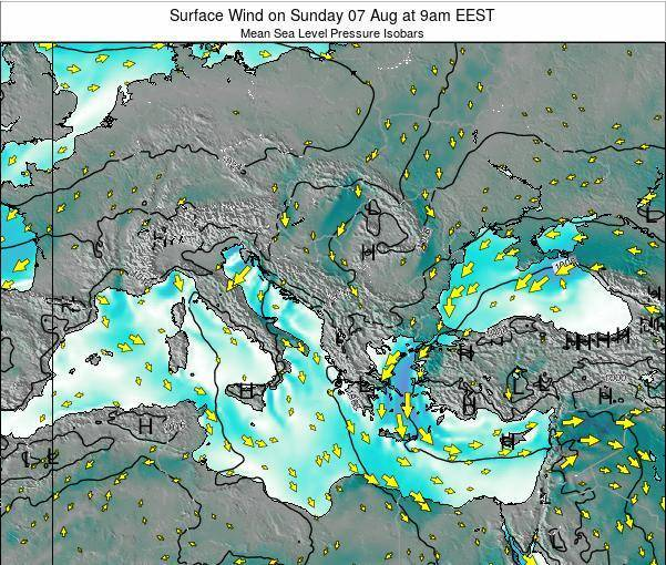 Bulgaria Surface Wind on Saturday 29 Apr at 9am EEST