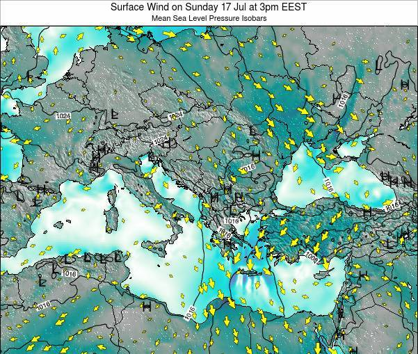 Bulgaria Surface Wind on Friday 06 May at 3am EEST