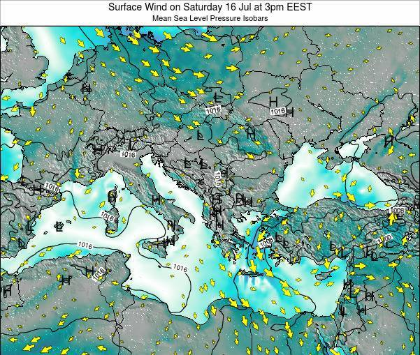 Bulgaria Surface Wind on Monday 27 Jun at 9pm EEST