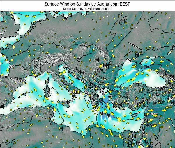 Bulgaria Surface Wind on Monday 27 May at 3am EEST