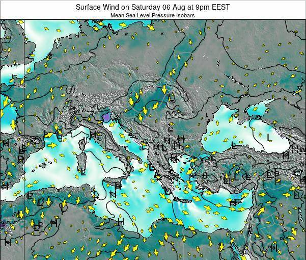 Bulgaria Surface Wind on Friday 18 Apr at 9pm EEST