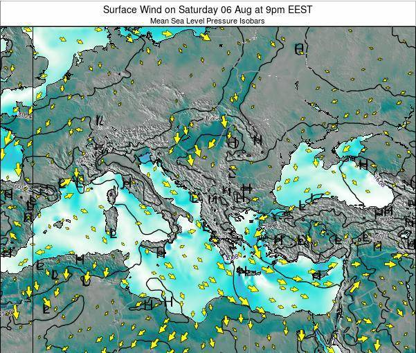 Bulgaria Surface Wind on Thursday 20 Jun at 9am EEST