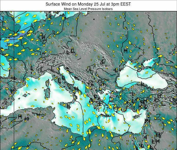 Bulgaria Surface Wind on Monday 10 Mar at 2am EET