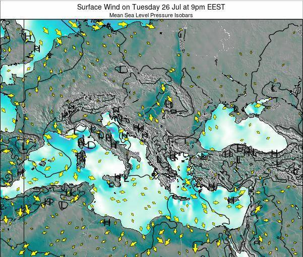 Bulgaria Surface Wind on Wednesday 27 May at 9am EEST