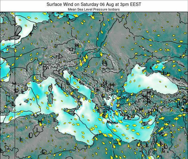 Bulgaria Surface Wind on Sunday 26 Feb at 8pm EET