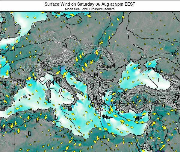 Bulgaria Surface Wind on Thursday 31 Jul at 9am EEST