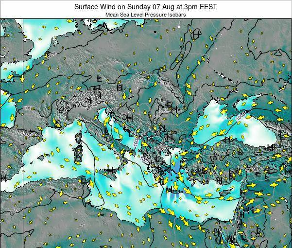 Bulgaria Surface Wind on Wednesday 12 Mar at 2am EET