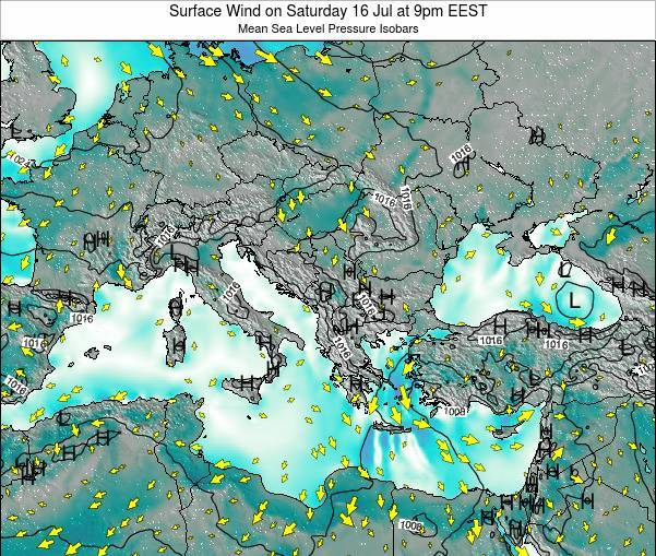 Bulgaria Surface Wind on Sunday 27 Apr at 3am EEST