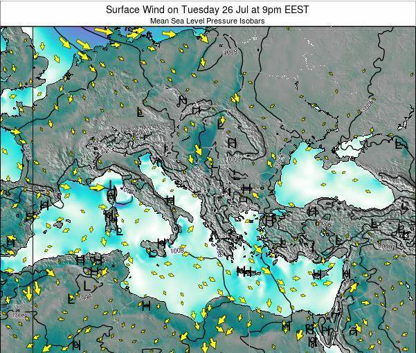 Bulgaria Surface Wind on Friday 14 Mar at 2am EET