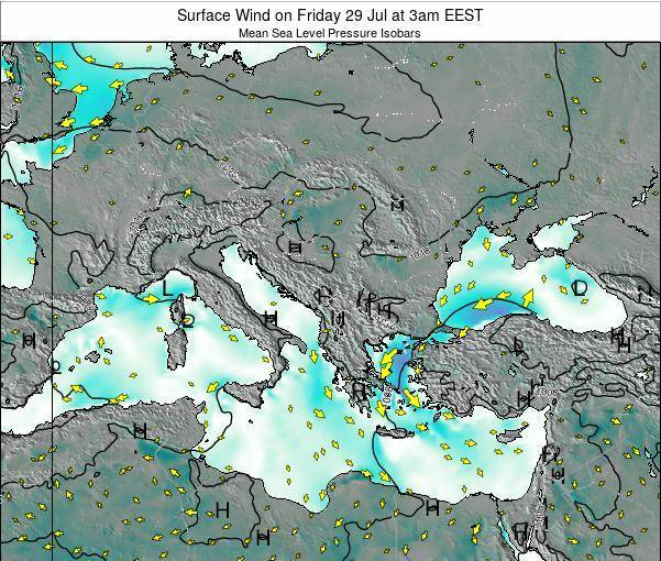 Bulgaria Surface Wind on Tuesday 21 May at 3pm EEST