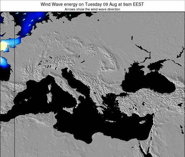 Bulgaria Wind Wave energy on Monday 24 Jun at 3am EEST