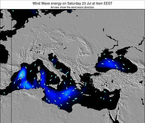 Albania Wind Wave energy on Friday 06 Dec at 8am EET