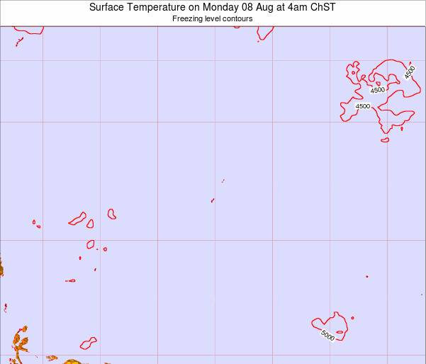 Guam Surface Temperature on Wednesday 29 Oct at 4pm ChST