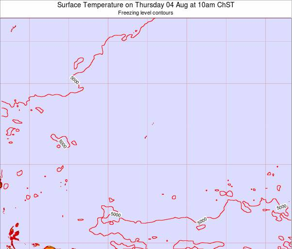 Guam Surface Temperature on Saturday 25 May at 4pm ChST