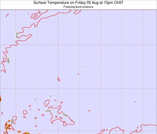Guam Surface Temperature on Tuesday 23 Dec at 10am ChST