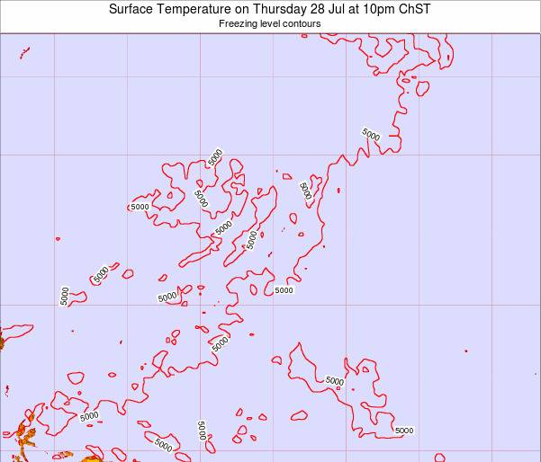 Guam Surface Temperature on Sunday 20 Apr at 10pm ChST