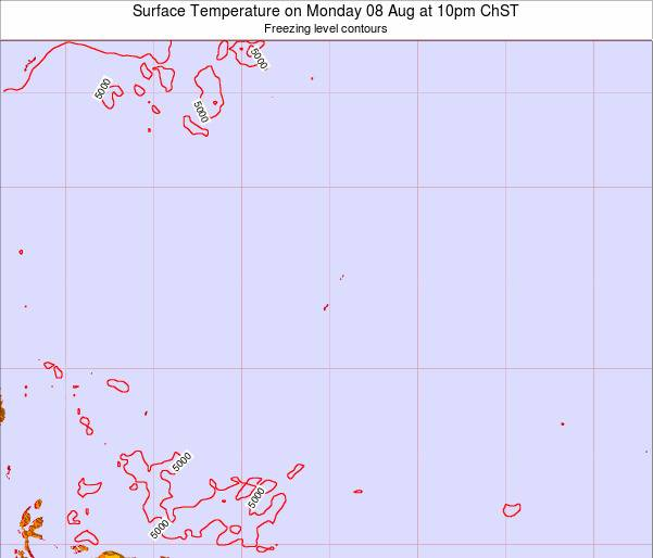 Guam Surface Temperature on Saturday 05 Sep at 10pm ChST