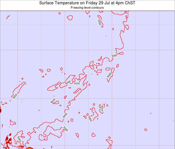 Guam Surface Temperature on Friday 24 May at 10am ChST