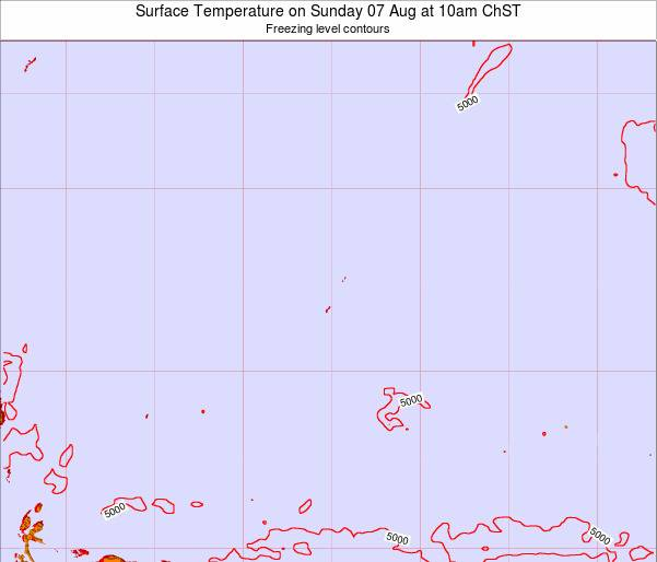 Guam Surface Temperature on Monday 28 Jul at 4pm ChST