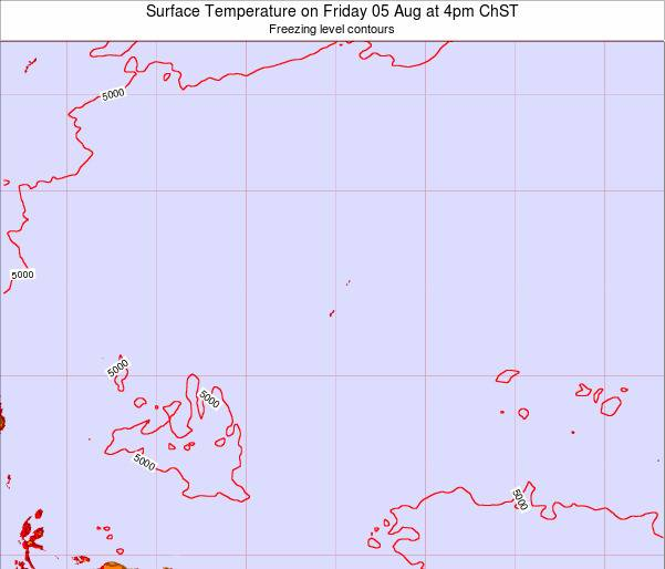 Guam Surface Temperature on Monday 21 Apr at 4pm ChST