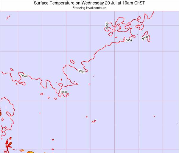 Guam Surface Temperature on Wednesday 23 Jul at 10pm ChST