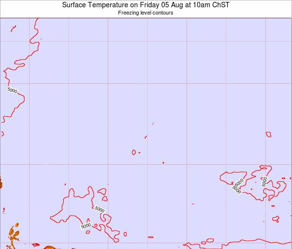 Guam Surface Temperature on Monday 09 Dec at 4am ChST