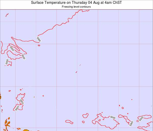 Guam Surface Temperature on Friday 22 Sep at 4am ChST