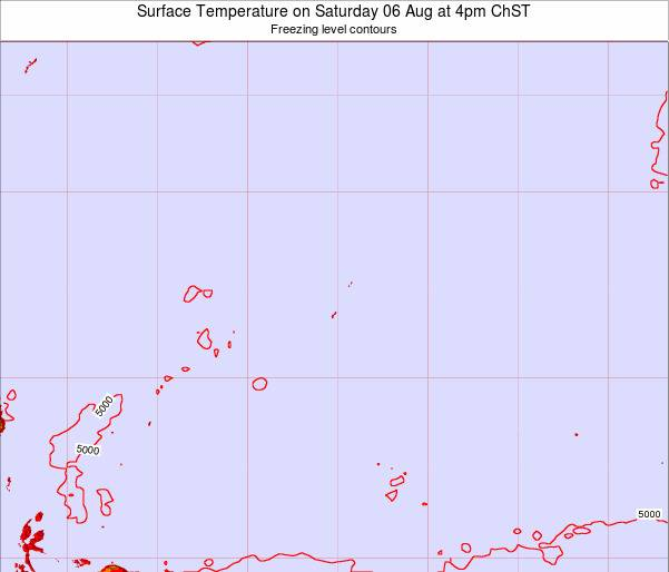 Guam Surface Temperature on Sunday 26 May at 4am ChST
