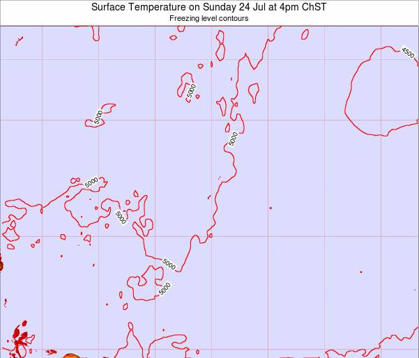 Guam Surface Temperature on Monday 06 Jul at 10am ChST