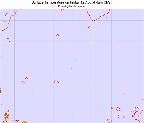 Guam Surface Temperature on Wednesday 31 Aug at 4pm ChST