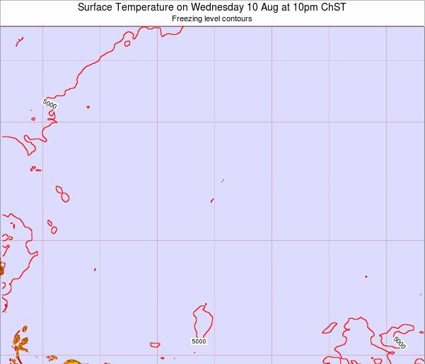 Guam Surface Temperature on Thursday 13 Mar at 4pm ChST