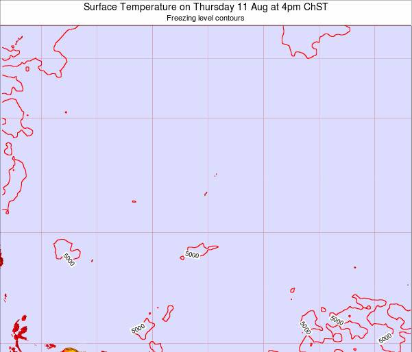 Guam Surface Temperature on Sunday 15 Dec at 4pm ChST