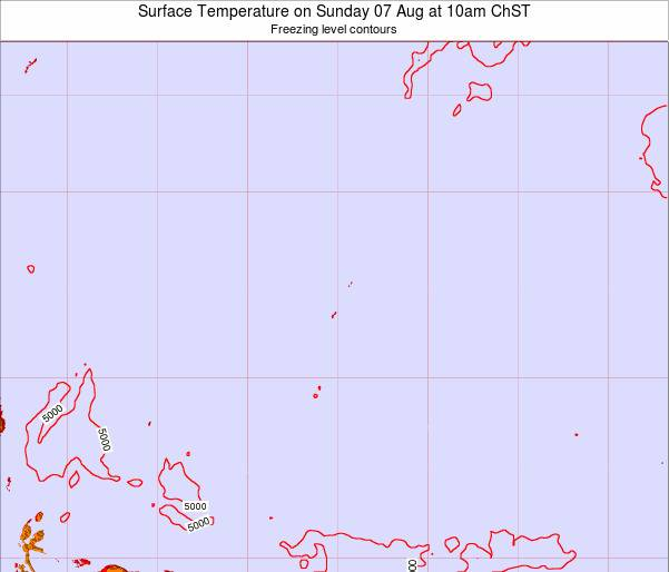 Guam Surface Temperature on Monday 27 May at 10am ChST