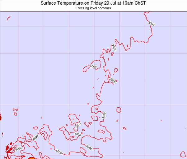 Guam Surface Temperature on Wednesday 29 May at 10pm ChST