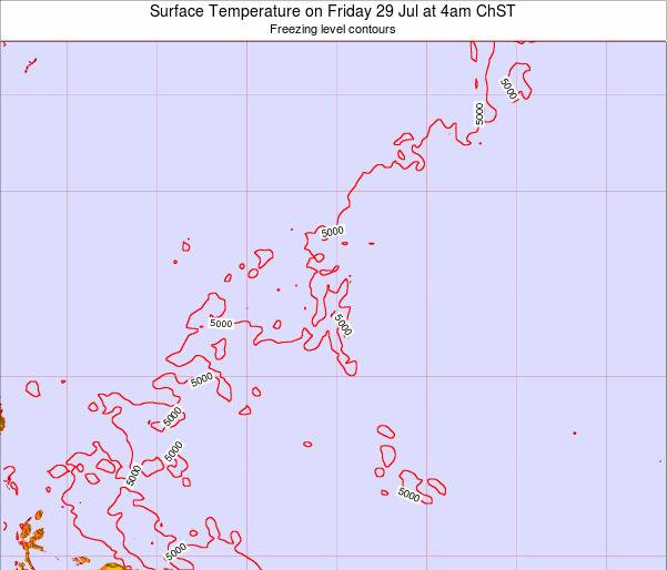 Guam Surface Temperature on Tuesday 02 Dec at 10pm ChST