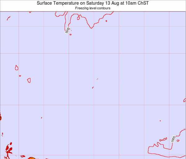 Guam Surface Temperature on Tuesday 18 Mar at 10am ChST