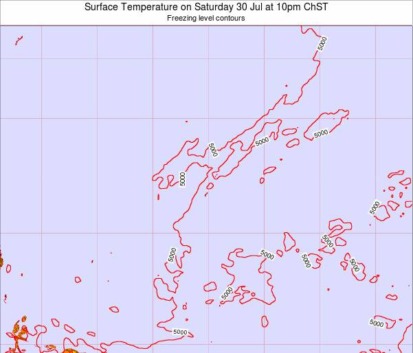 Guam Surface Temperature on Monday 16 Dec at 4am ChST