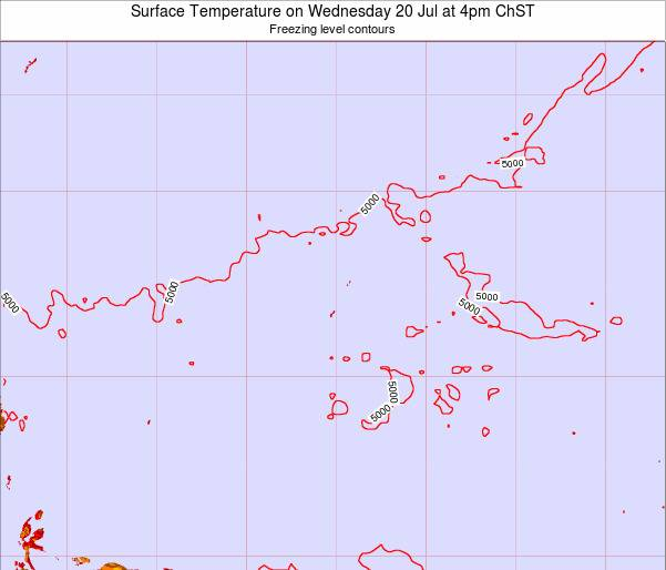 Guam Surface Temperature on Tuesday 29 Jul at 10am ChST