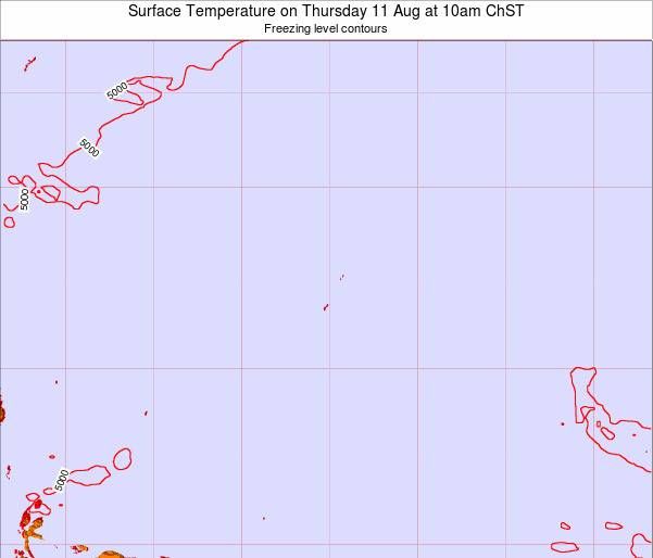 Guam Surface Temperature on Tuesday 18 Mar at 4pm ChST
