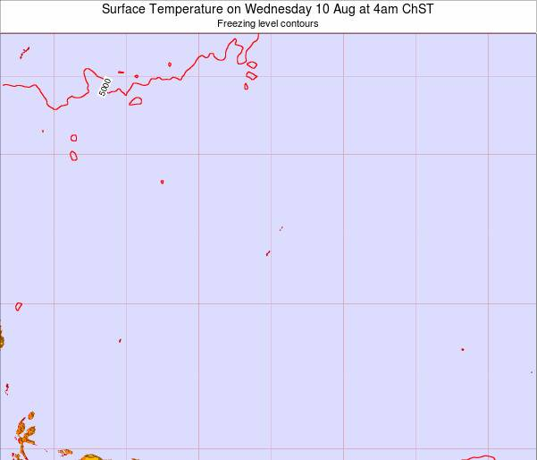 Guam Surface Temperature on Thursday 01 May at 10am ChST
