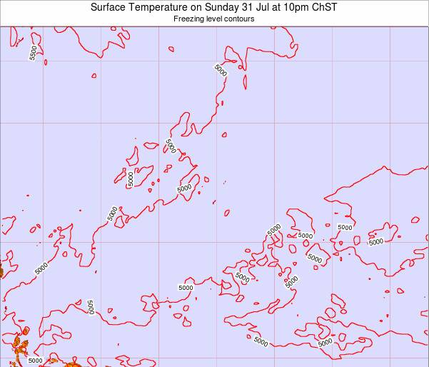 Guam Surface Temperature on Friday 31 May at 4pm ChST