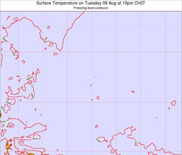 Guam Surface Temperature on Wednesday 08 Oct at 10am ChST