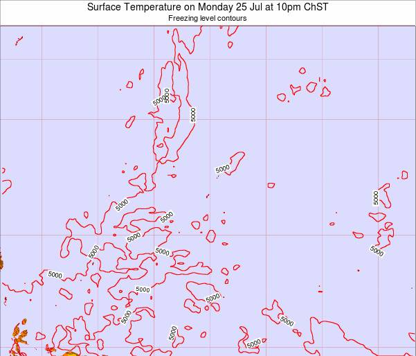 Guam Surface Temperature on Friday 24 May at 4am ChST
