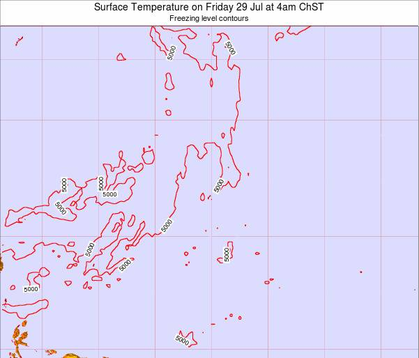 Guam Surface Temperature on Friday 01 Aug at 4am ChST