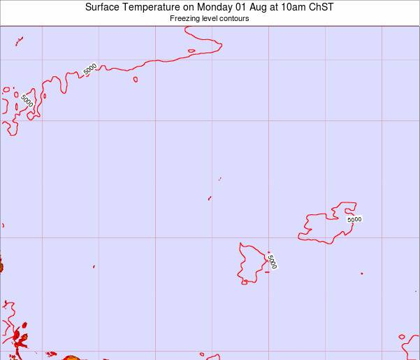 Guam Surface Temperature on Saturday 27 Aug at 10pm ChST