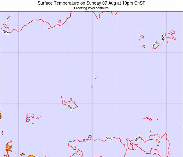 Guam Surface Temperature on Wednesday 11 Dec at 4am ChST