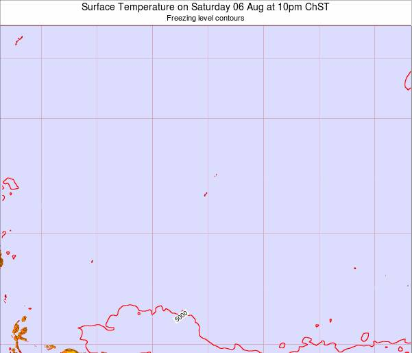 Guam Surface Temperature on Friday 03 Jul at 10am ChST
